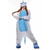 REBL Blauwe Pegasus Onesie voor volwassenen - Blauwe Pegasus Kigurumi Pyjama