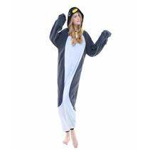 Grijze Pinguin Onesie voor volwassenen - Grijze Pinguin Kigurumi Pyjama