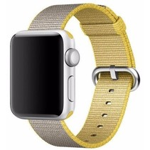 Geweven nylon bandje voor de Apple Watch  - Grijs / Geel