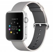 Geweven nylon bandje voor de Apple Watch  - Space Grijs