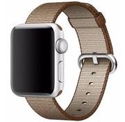 REBL Geweven nylon bandje voor de Apple Watch  - Koffie Bruin