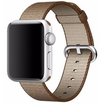 Geweven nylon bandje voor de Apple Watch  - Koffie Bruin