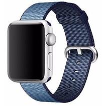 Geweven nylon bandje voor de Apple Watch  - Navy / Blauw