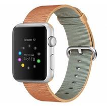 Geweven nylon bandje voor de Apple Watch  - Oranje / Geel