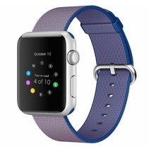 Geweven nylon bandje voor de Apple Watch  - Paars / Blauw