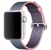 REBL Geweven nylon bandje voor de Apple Watch  - Paars / Roze