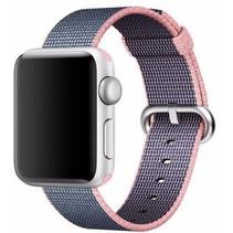 Geweven nylon bandje voor de Apple Watch  - Paars / Roze