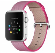 REBL Geweven nylon bandje voor de Apple Watch  - Roze / Roze