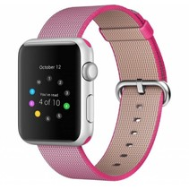 Geweven nylon bandje voor de Apple Watch  - Roze / Roze