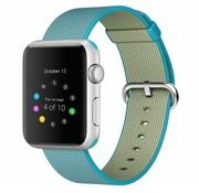 REBL Geweven nylon bandje voor de Apple Watch  - Scuba Blauw