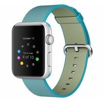 Geweven nylon bandje voor de Apple Watch  - Scuba Blauw