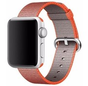 REBL Geweven nylon bandje voor de Apple Watch  - Space Oranje