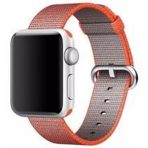 Geweven nylon bandje voor de Apple Watch  - Space Oranje
