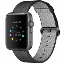 Geweven nylon bandje voor de Apple Watch  - Zwart