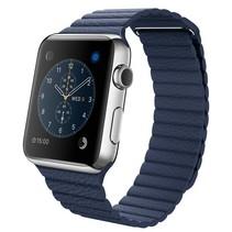 PU Lederen bandje met magnetische sluiting voor Apple Watch  - Blauw