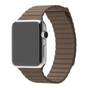 REBL PU Lederen bandje met magnetische sluiting voor Apple Watch  - Bruin