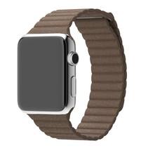 PU Lederen bandje met magnetische sluiting voor Apple Watch  - Bruin