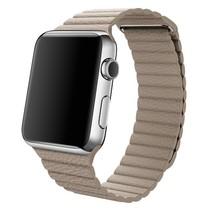 PU Lederen bandje met magnetische sluiting voor Apple Watch  - Khaki