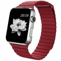 PU Lederen bandje met magnetische sluiting voor Apple Watch  - Rood