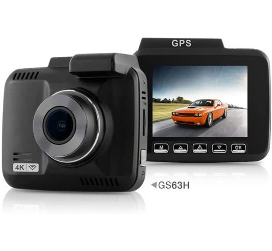 Dashcam GS63H - 4k dashcam met GPS en WiFi