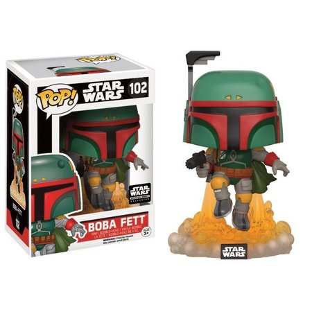 Funko Boba Fett Jet Pack Limited Edition #102  - Star Wars - Smuggler's Bounty Exclusive Funko POP!
