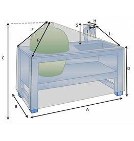 Maßgefertigte Schutzhülle für Außenküche mit Kran