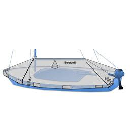 Abdeckplane für offenes Kielboot