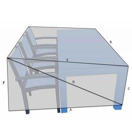Tafel met stoelen aan 1 zijde