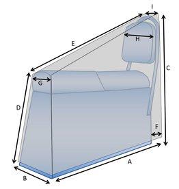 Maßgefertigte Schutzhülle für Bootssitz