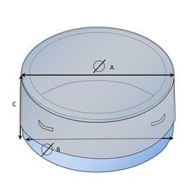 Maßgefertigte Whirlpool-Schutzhülle rund