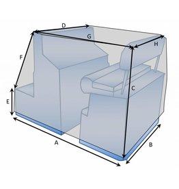 Maßgefertigte Schutzhülle für Konsole mit Sitz