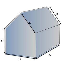 Vijfhoekige vorm hoes op maat
