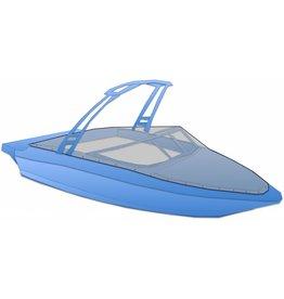 Abdeckplane mit Druckverschlüssen für Wakeboardtower