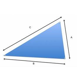Doek op maat driehoek