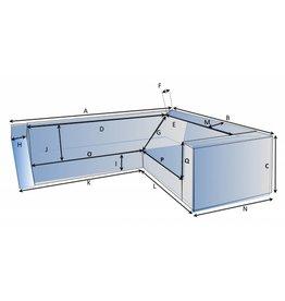 Schutzhülle auf Maß für Loungebank Typ 6