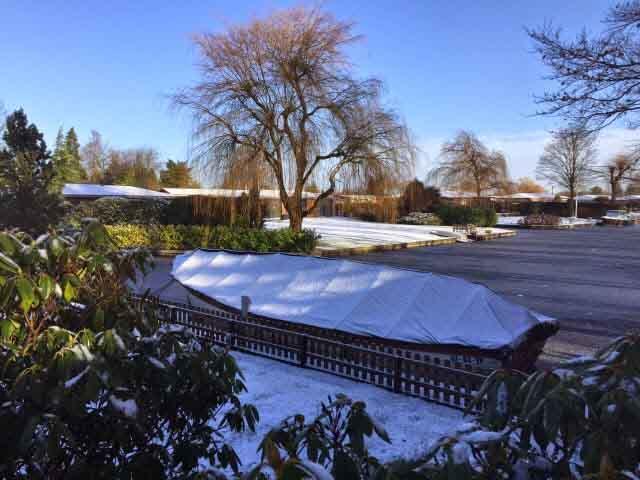 Bootzeil-sneeuw