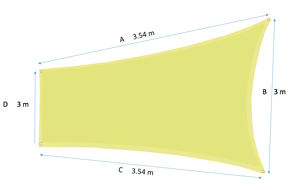 opmeten voorbeeld vierkant schaduwdoek kwaliteit handgemaakt instructies zonnedoek sunshade zonnezeil