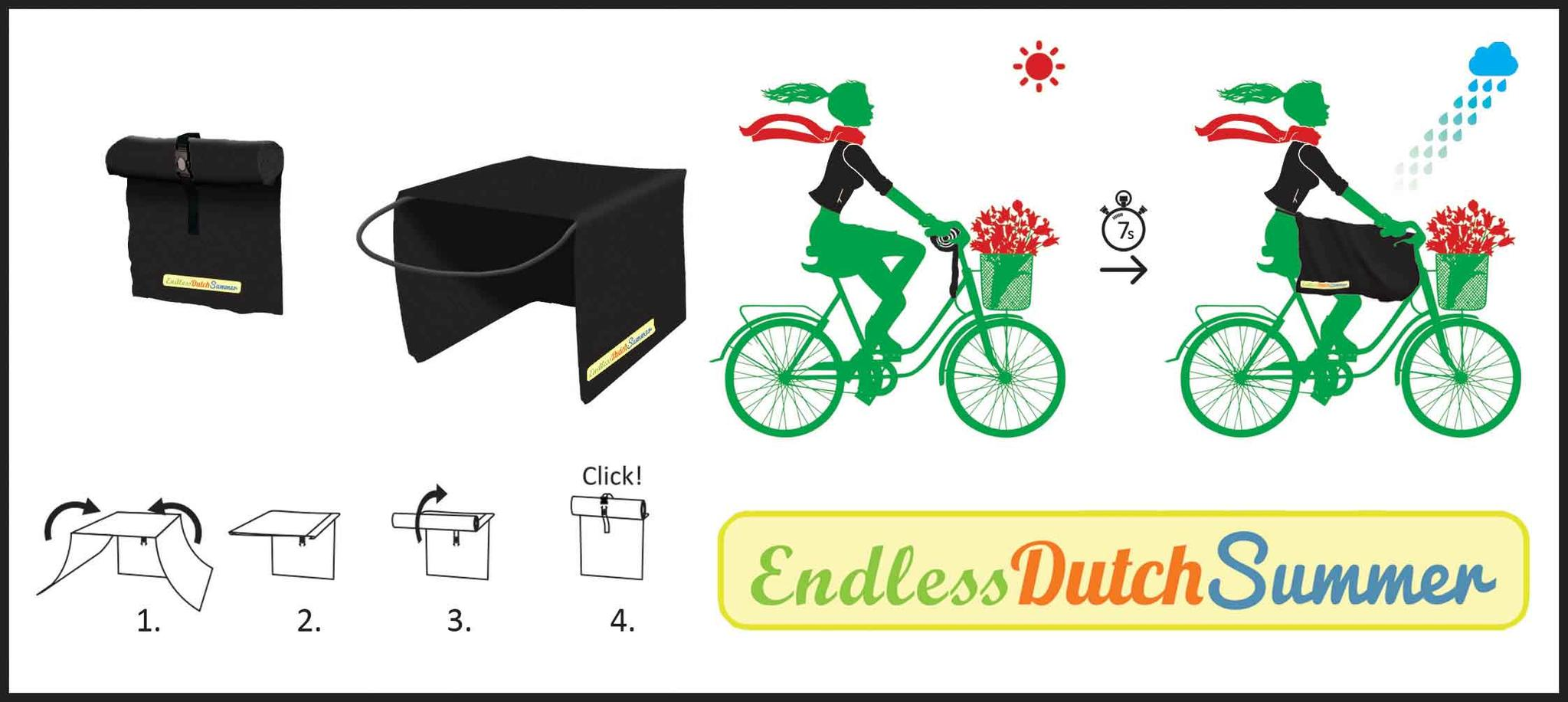 Fahrrad-Bein-Regenmantel