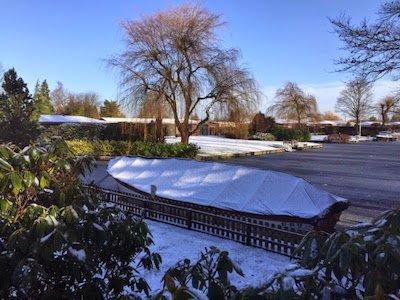 Bootzeil in de sneeuw