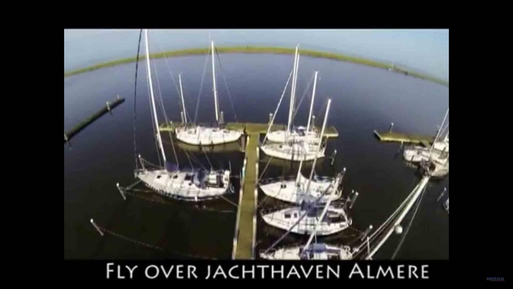 Drone vlucht over de jachthaven