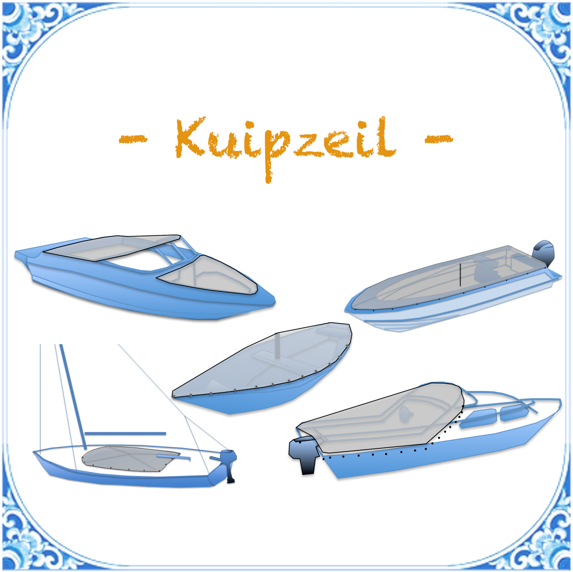 kuipzeil open boot zeilboot speedboot open bow