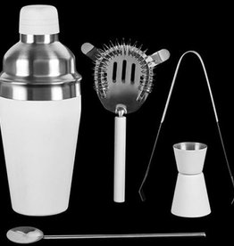 Excellent Houseware Cocktailshakerset 5 dlg wit