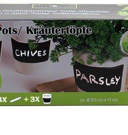 Gifts@Home Kruidenpotten set van 3