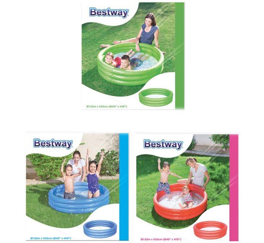 Kinderzwembad 3-rings 102x25cm