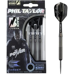 Phil Taylor Power 8ZERO Black Titanium 80% 21-23-25g