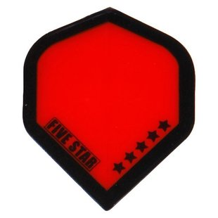 Bull's Five Star - Transparent Red Black border