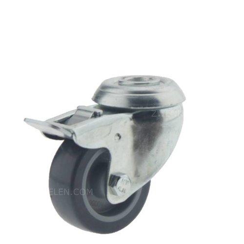 Zwenkwiel 50 verzinkt 1PU boutgat met rem