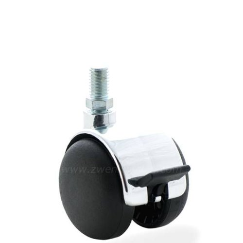 PP chrome wiel 50mm bout M10x25 met rem