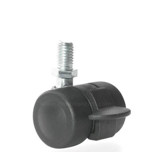 PALOW wiel 35mm bout M10x15 met rem