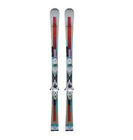 ROSSIGNOL Unique 2 (rd/wit/truk) Ski's Gebruikt
